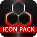 GLOW RED icon pack HD 3D icon