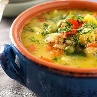 Salmon Corn Chowder with Coconut Milk