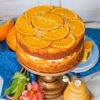Upside-Down Honey Orange Cake +Cookbook Giveaway!.
