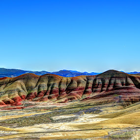 Painted Hills by John Broughton - Nature Up Close Other Natural Objects ( colorful, rock formation, eastern oregon, natural beauty, painted hills )