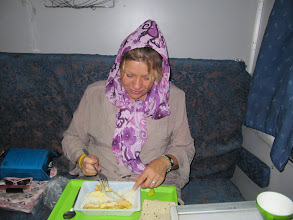 Photo: Day 139 - Eating Our Meal on the Train to Gorgan