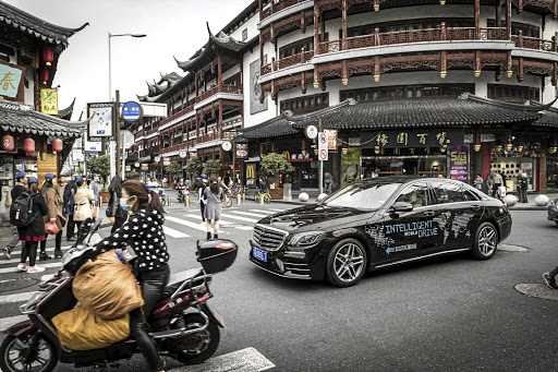 The autonomous S-Class coping with the challenges on the roads of Shanghai. Picture: QUICKPIC