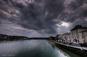 Photo: Storm Over Bideford  Bideford is a small fishing town in the south west of England, it is typically English with small narrow streets, markets and many places to just relax and chill out. When we visit we stood at the edge of the harbour and watched these dark foreboding clouds roll in. For me its only when I see the immenseness of the clouds in the sky dwarfing everything else do you realise the power that is up there.  last image from me so I don't keep spamming your streams :)      #thewhiterabbit #mikefshaw #mikeshaw #landscapes