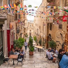 Streets of Valletta, Malta by Andrej Kozelj - City,  Street & Park  Street Scenes ( valletta, streets, street scene, street, malta, streetphotography, street photography )
