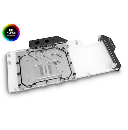 EK vannblokk for skjermkort, EK-Quantum Vector FTW3 RTX 3080/3090 D-RGB - Nickel + Plexi