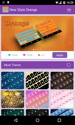 Emoji Keyboard-Orange