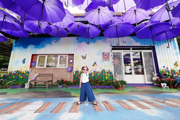 噢哈娜咖啡屋:浪漫紫色愛情傘、夢幻紫色步道、季節限定紫藤花…苗栗情侶約會親子旅遊的好地方