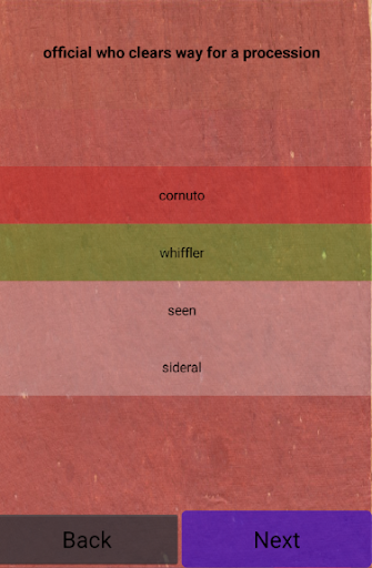 Quiz - unusual words  screenshots 4