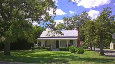 Photo: Sarah Jenkins house, Bastrop house, 1832. Her first husband was killed by Comanches; second husband died at the Alamo; shortly thereafter her 13 year old joined the Texas Army; came back for Sarah during the Runaway Scrape, fleeing Santa Anna. Wow.