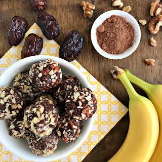 Chocolate Banana Nut Energy Bites.