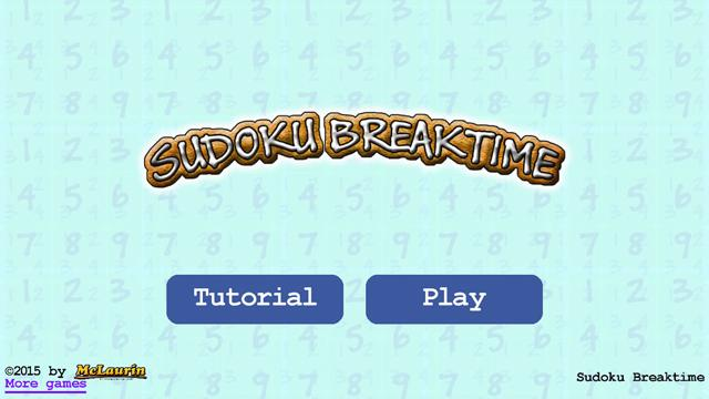 Sudoku Breaktime- screenshot