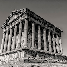 Temple of Garni  by Amir Kh - Buildings & Architecture Public & Historical ( history, temple, armenia, black and white, garni, historic district, architecture, historical, historic,  )