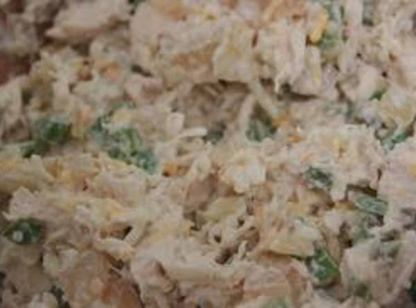 When the chicken is cooled, debone, dice or shred and add to cheese mixture,...