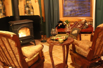 Photo: This fireplace gives glowing safety and warmth !
