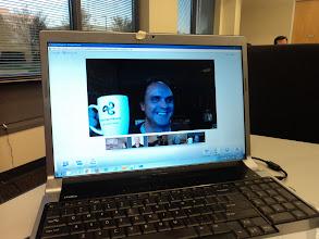 Photo: Richard English showing his DNN6 mug