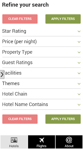 android Prague Hotels and Flights Screenshot 1