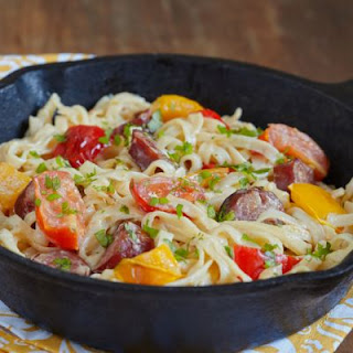 Irresistible Cheesy Pasta Skillet