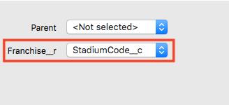 参照先のキーとなる外部IDを選択