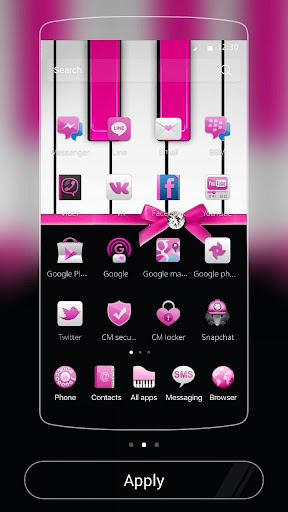 Pink Theme Pink piano screenshot