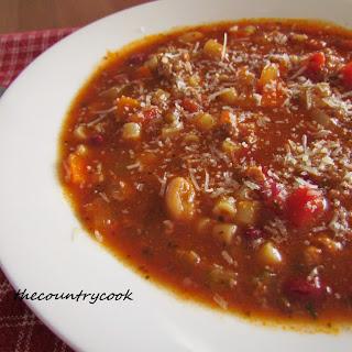 Pasta E Fagioli Soup {Slow Cooker}