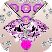 App Purple Diamond Zipper Screen APK for Windows Phone