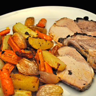 Roast Pork Loin With Potatoes And Carrots Recipes.