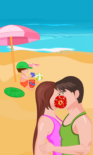 Kissing Game-Beach Couple Fun
