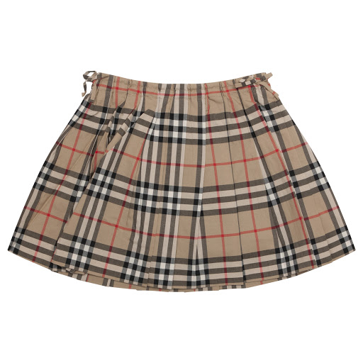 Primary image of Burberry Pleated Check Skirt