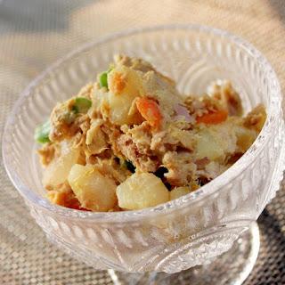 Curry Potato Salad with Tuna