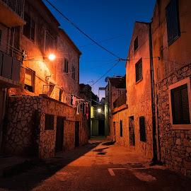 Stara riva street by Branko Meic-Sidic - Buildings & Architecture Homes ( croatia, pirovac, oldstreet, hdr, stonehouses, oldtown )