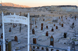 Photo: Tonopah pioneer cemetery near the Clown Motel. Was active during the mining boom.