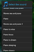 Screenshot of Piano sound to sleep
