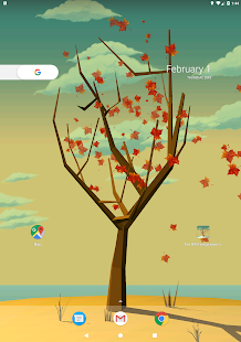 Tree With Falling Leaves Live Wallpaper Screenshot