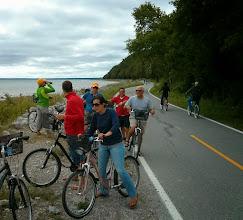 Photo: Seraphim Crew biking around Mackinac Island post race