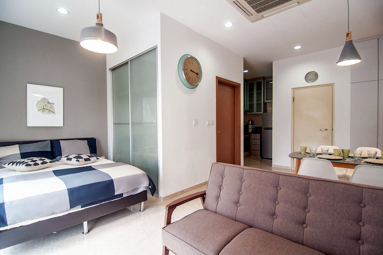 Simplistic living area in Toa Payoh Serviced Apartments