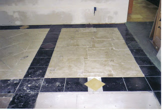 Photo: showroom tiled in different patterns