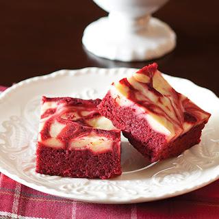 Red Velvet and Cream Cheese Swirl Brownies.