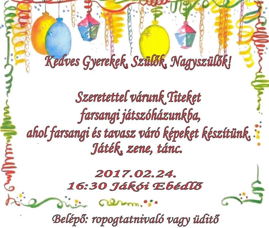 Farsangi plakát 2017