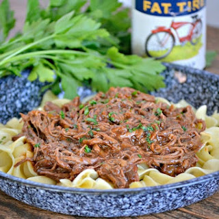 Slow Cooker Chili Beer Pot Roast