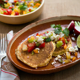 Fresh Corn Griddle Cakes With Spicy Salsa