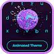 Hydrangea Loop Flower Animated Keyboard Android apk
