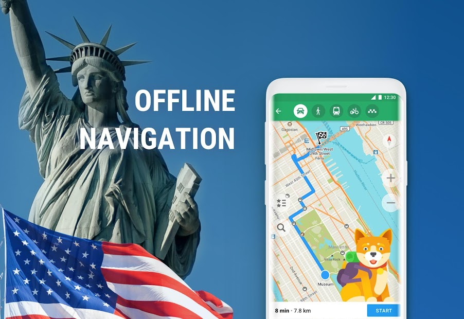 MAPS.ME – Offline maps, travel guides & navigation Android App Screenshot
