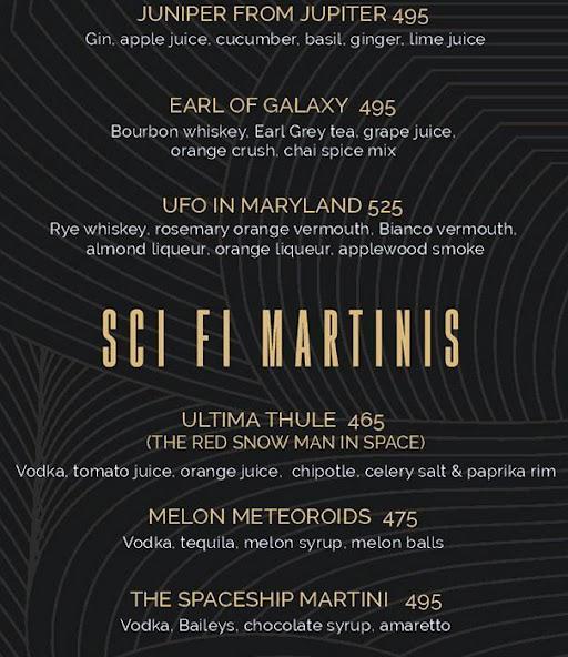 Helix- The Celestial Bar menu 2