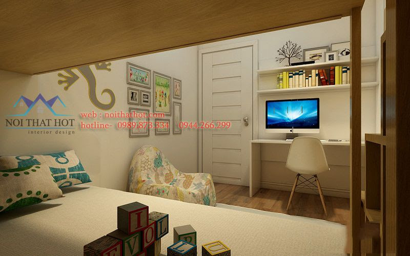 thiết kế chung cư cao cấp phong cách trẻ