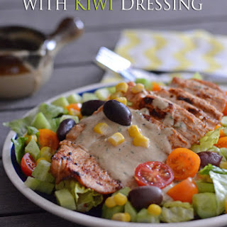 Chicken Salad With Kiwi And Tahini Dressing..