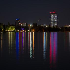 Light bars by Mircea Bogdan - City,  Street & Park  City Parks ( lights, park, bars, barcode, lake, city, colours )