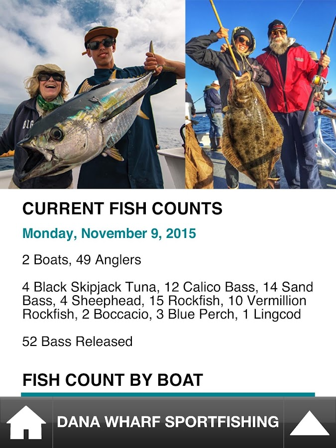 Dana Wharf Fish Count- screenshot