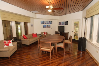 Photo: Family Room. Communal space for any and all visitors and patients to spend quality time together.
