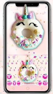 Pinky Donut Unicorn Keyboard Theme 1.0 Mod APK (Unlock All) 1