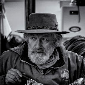 Watching by David Feuerhelm - People Portraits of Men
